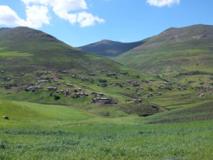 Rural village in Lesotho with South Africa Overland 4x4 Tours