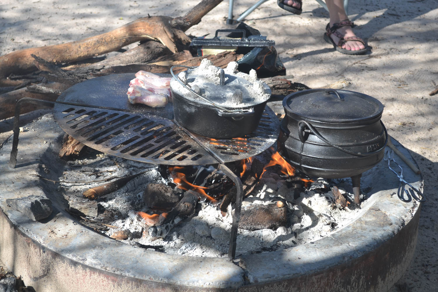 Amazing campfire meals with South Africa Overland 4x4 Tours