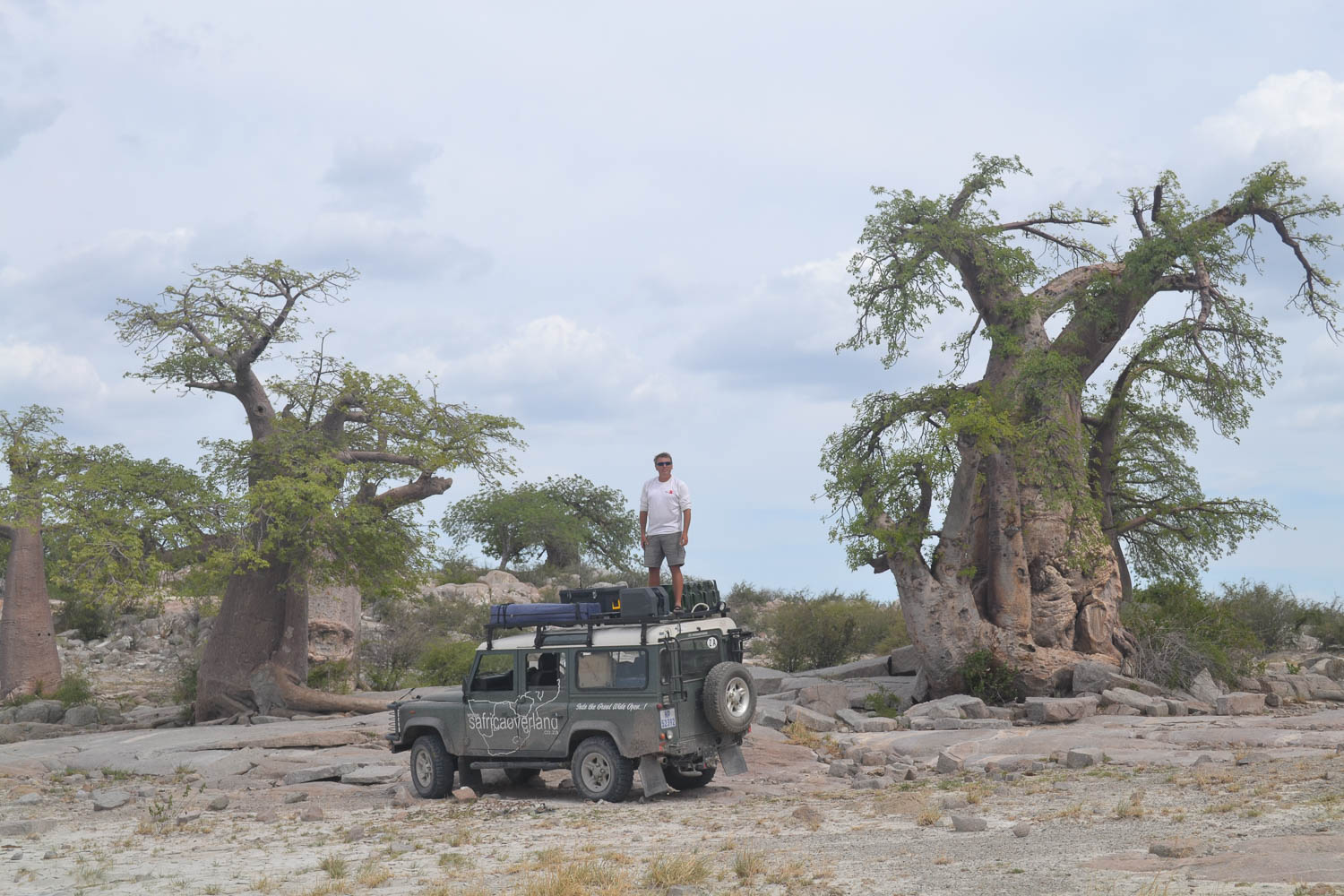 Kubu Island in Makgadikgadi Pans with South Africa Overland 4x4 Tours