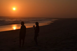 Sunset on the Beach with South Africa Overland 4x4 Tours