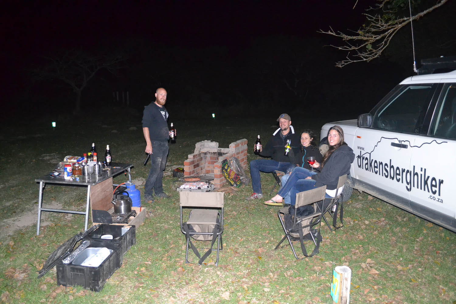 Relaxing round the campfire with South Africa Overland 4x4 Tours
