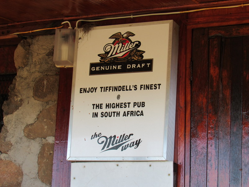 Tiffendell Pub in Lesotho with South Africa Overland