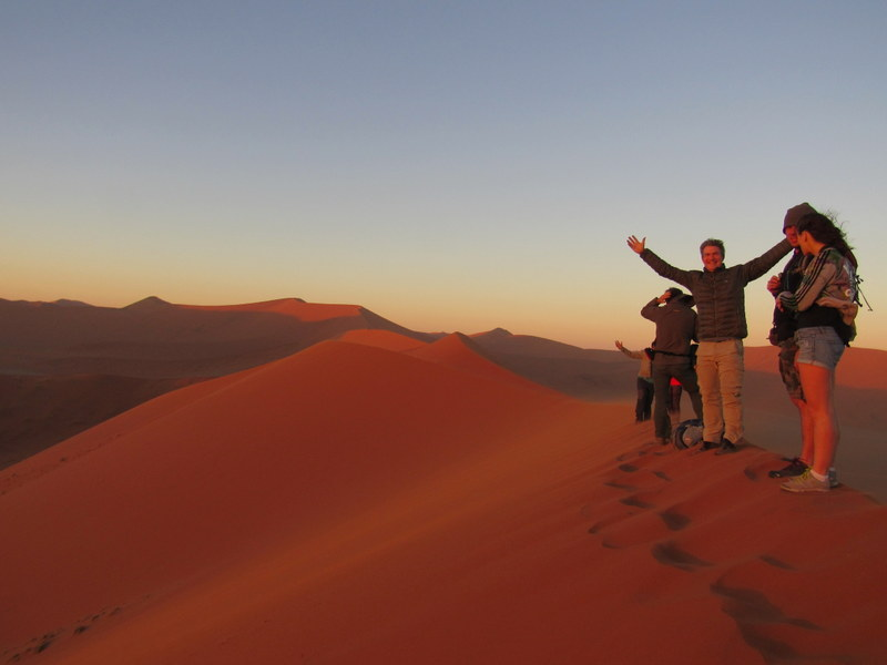 Sossusvlei dunes in Namibia, South Africa Overland
