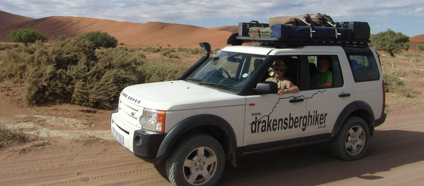 Sand dunes in Namibia with South Africa Overland 4x4 Tours