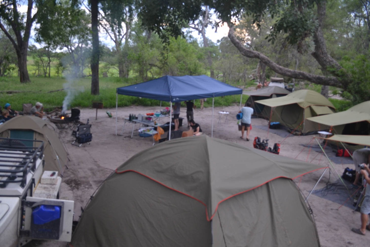 Well organised campsite with South Africa Overland 4x4 Tours